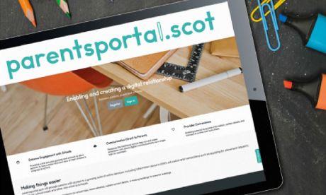 parentsportal.scot on tablet screen