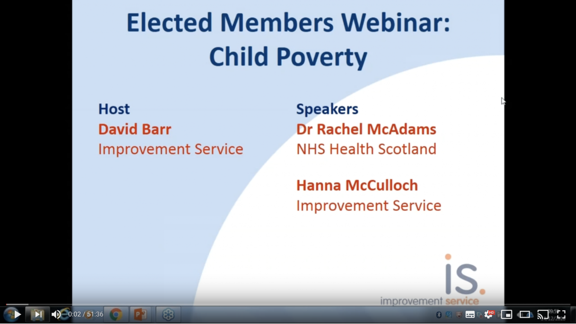 Elected Member webinar on child poverty
