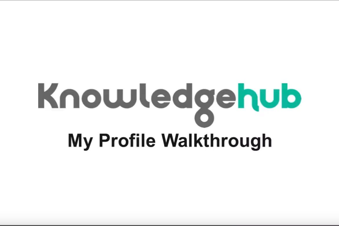 Screenshot from Knowledge Hub Profile Walkthrough