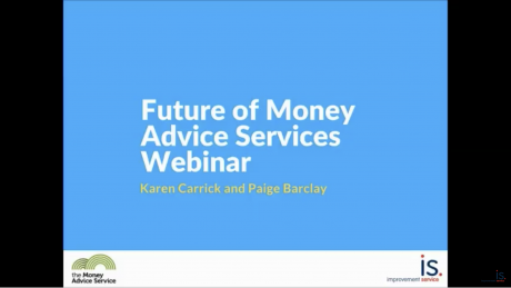 Webinar on the future of money advice services
