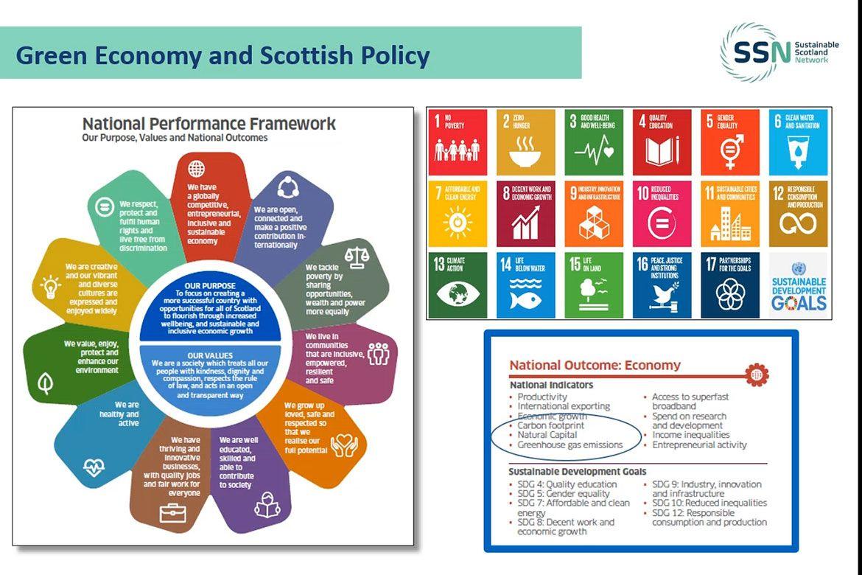 Screenshot from webinar on understanding the green recovery