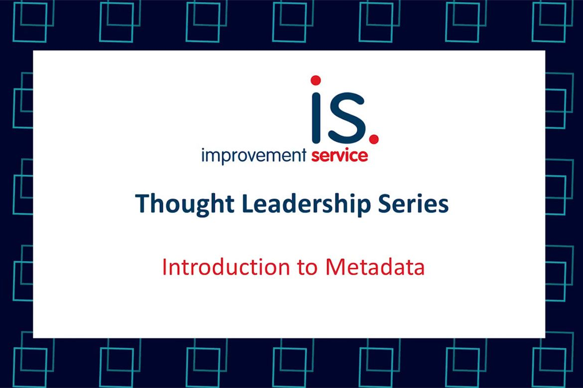 Thought leadership - introduction to metadata