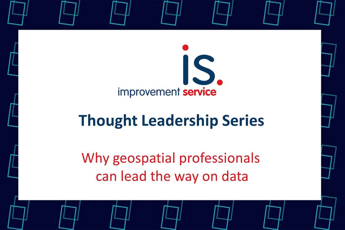 Why geospatial professionals can lead the way on data