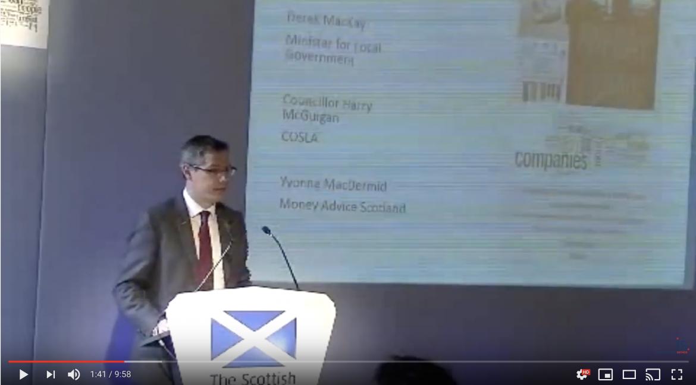 Derek MacKay addresses the Tackling Payday Lending and Gambling Summit