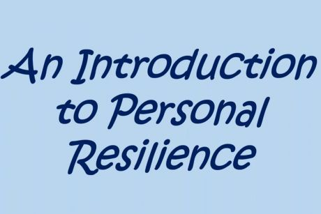 Screenshot from webinar on personal resilience