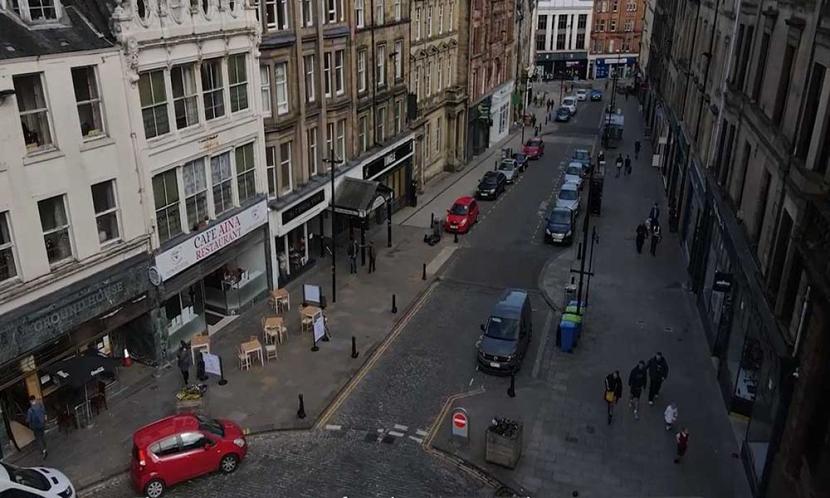 Drone image of high street